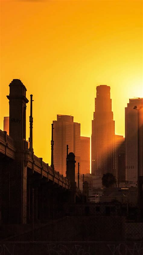 los angeles city sunset wallpaper  iphone