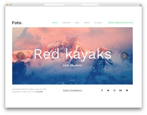 Free Photography Website 25 Best Free Photography Website Templates For Professionals