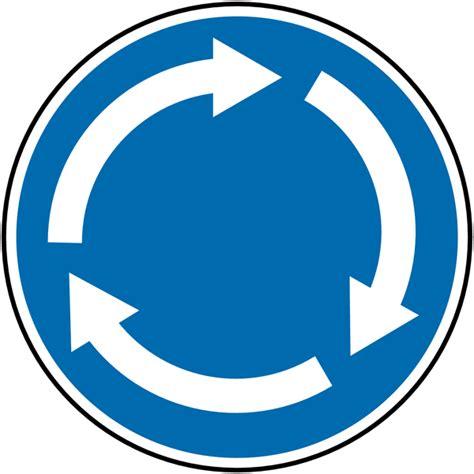wall mount traffic signs mini roundabout seton uk