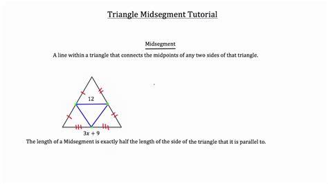 Triangle Midsegment Theorem Youtube