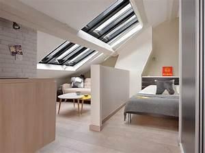 Separation Salon Chambre : s paration chambre salon dans un studio sous les toits ~ Zukunftsfamilie.com Idées de Décoration