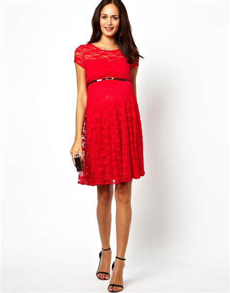 dress with belt asos lace skater dress with belt in lyst