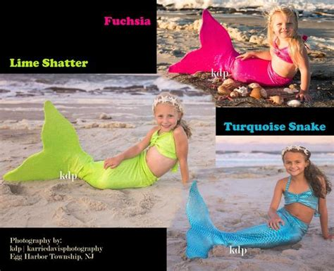 Mermaid Tail Monofin Included For Swimming. Girls And Adults