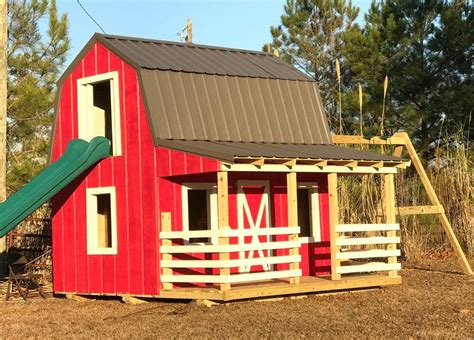 barn silo playhouse plan playhouse plans wooden barn