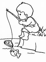 Fishing Coloring Rod Boy Drawing Colouring Pages Little Fly Boys Sketch Printable Easy Bestcoloringpagesforkids Getdrawings Kid Bobber Littlemix Camping Adult sketch template