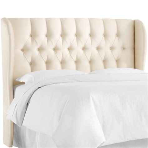 tufted wingback headboard skyline upholstered tufted wingback king headboard in