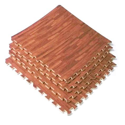 interlocking wood grain cherry mats foam flooring