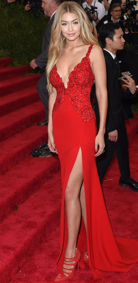 Gigi Hadid 2015 Met Gala Red Carpet  Celebrity Red