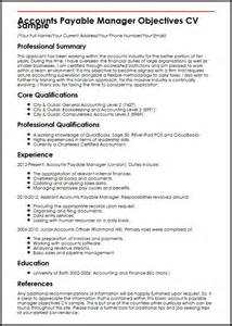 professional resume template accountant cv document template accounts payable manager objectives cv sle myperfectcv