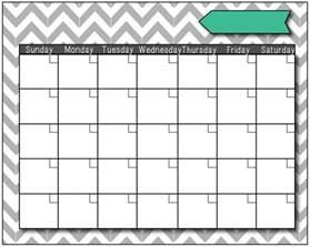 Blank Fill in Calendar Templates