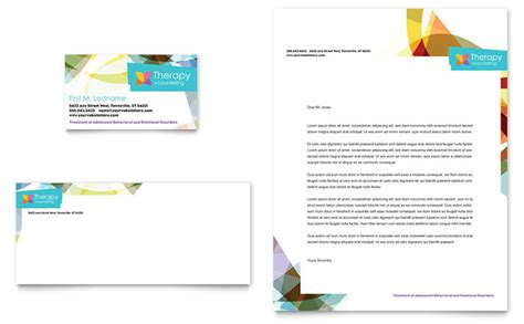adolescent counseling business card letterhead template