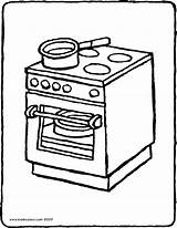 Cooker Coloring Colouring Stove Oven Drawing Kiddicolour Printable Pages Getcolorings Print Furniture Pag 01v Receiver Mail sketch template