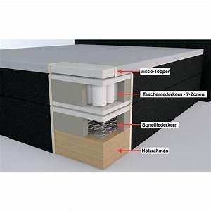 Boxspringbett 180x200 7 Zonen Tonnentaschenfederkern : boxspringbett bea 180x200 cm hellgrau h2 h3 ~ Bigdaddyawards.com Haus und Dekorationen