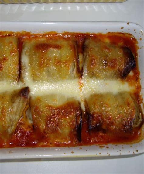 recette cuisine aubergine roulé d aubergine à la viande hachée et mozzarella les