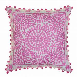 Souk Embroidered Cushions Square Homeware