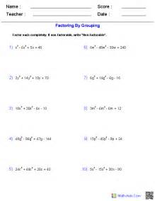 factoring numbers worksheets factoring by grouping worksheet abitlikethis