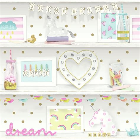 Bedroom Wallpaper Range by Wallpaper Themed Bedroom Unicorn Glitter