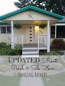 Front, Porch, Update, U0026, Silk, Fern, Hanging, Baskets