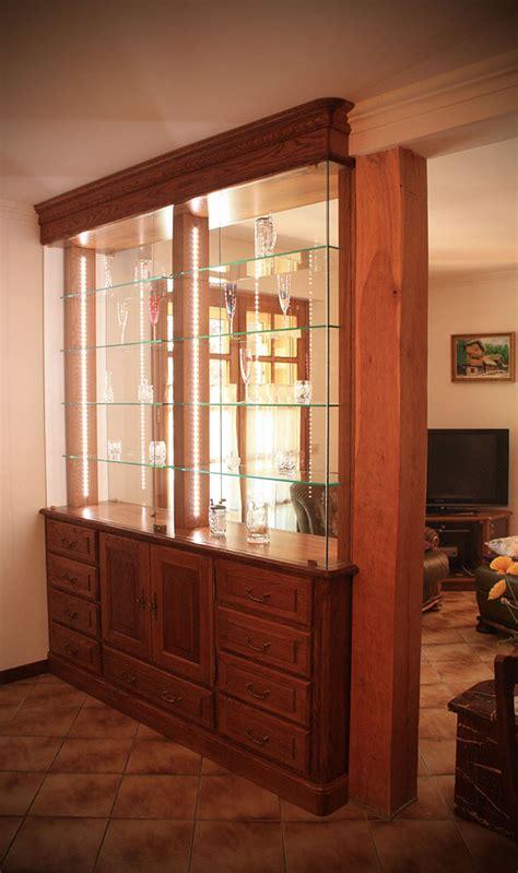 vitrine pour salle a manger meuble de s 233 paration vitrine en ch 234 ne teint 233 verni 233 clairage leds int 233 gr 233 atelier bois