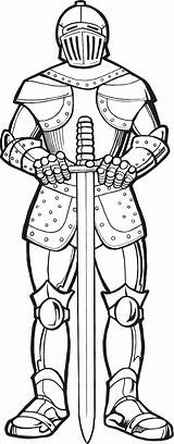 Coloring Knights Pages Armor God Medieval Times Knight Designdecor sketch template
