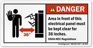 danger electrical panel area keep clear label sku lb 2922 With electrical panel tags