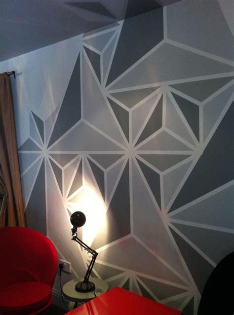 geometric wall design geometric wall painting ideas weneedfun
