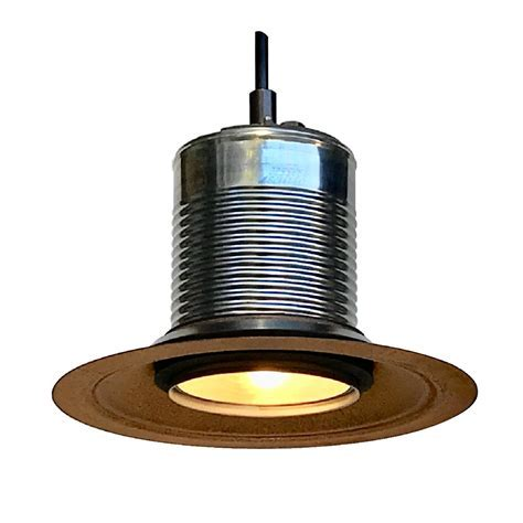 "Corrugated Metal Pendant 7"" Metal Hood LED 120V/6W 500"
