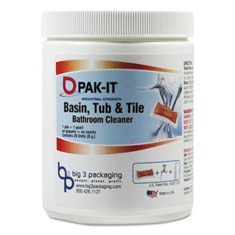 pak it industrial strength basin tub tile bathroom cleaner scent