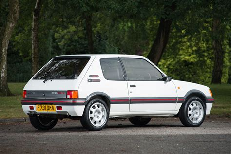 peugeot gti peugeot 205 gti raises eyebrows at silverstone classic