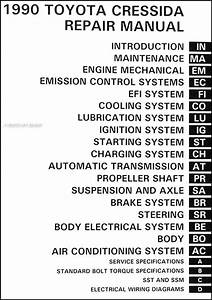 1990 Toyota Cressida Repair Shop Manual Original