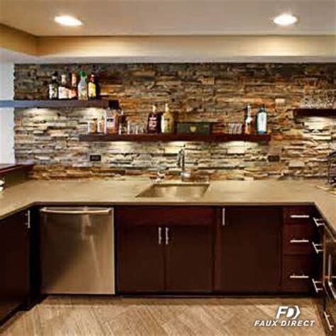 rock backsplash kitchen faux kitchen backsplash faux direct 1974