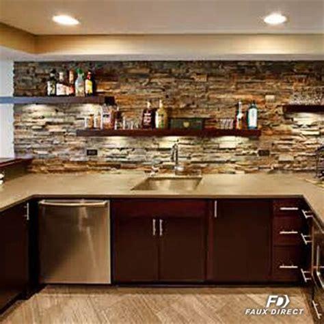 Faux Stone Kitchen Backsplash  Faux Direct