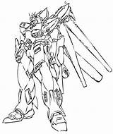 Gundam Coloring Exia Template sketch template