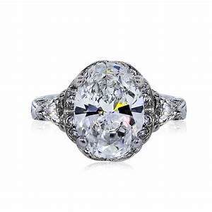 14k white gold gia certified 358ct oval cut diamond With oval diamond wedding rings