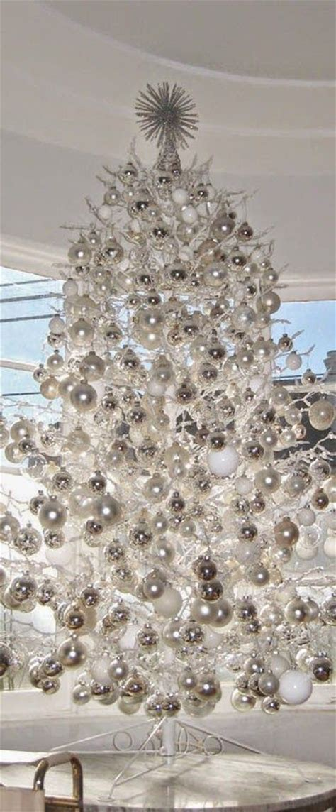 decorated white christmas trees 21 silver christmas tree d 233 cor ideas digsdigs