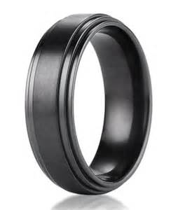 mens black wedding rings mens designer black titanium wedding ring