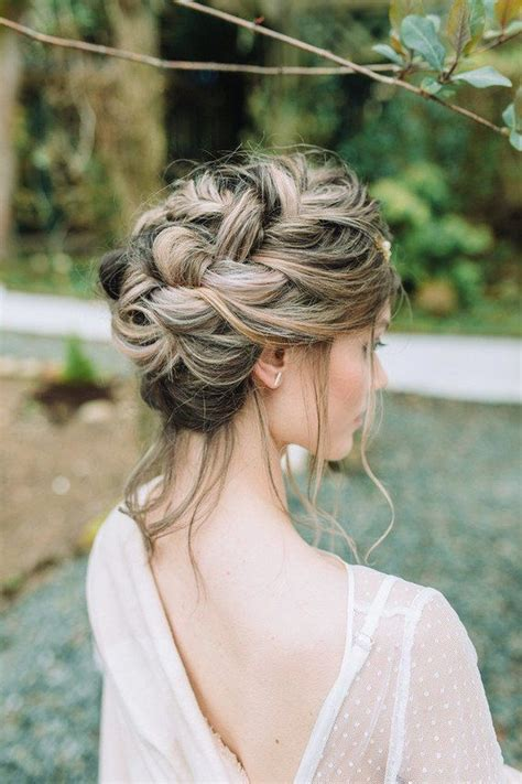 braided wedding hairstyle wedding hairstyles  long