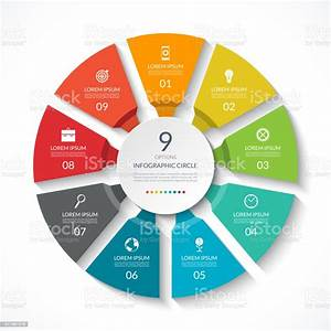 Infographic Circle Process Chart Vector Diagram With 9