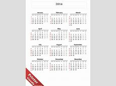 Simple Calendar 2014 for PowerPoint