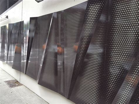 architectural wall systems custom perforation