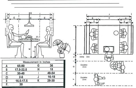 measurements breakfast booth floor plans booths tables