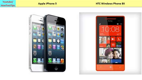 windows phone vs iphone apple iphone 5 vs htc windows phone 8x