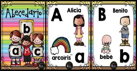 abecedario nombres propios portada imagenes educativas