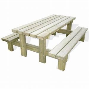 Table Bois Pique Nique : table de pique nique roma 8 places en bois pefc doublet ~ Melissatoandfro.com Idées de Décoration