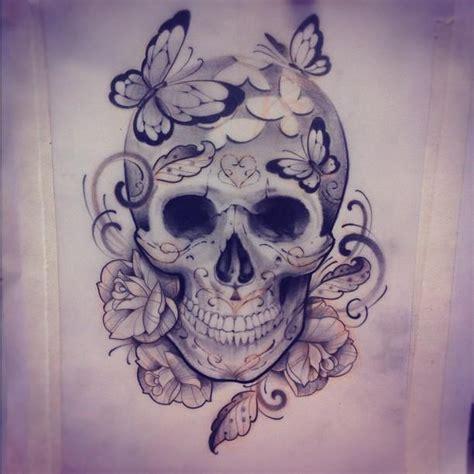 totenkopf frau edu tatto skull totenk 246 pfe oberschenkel frau