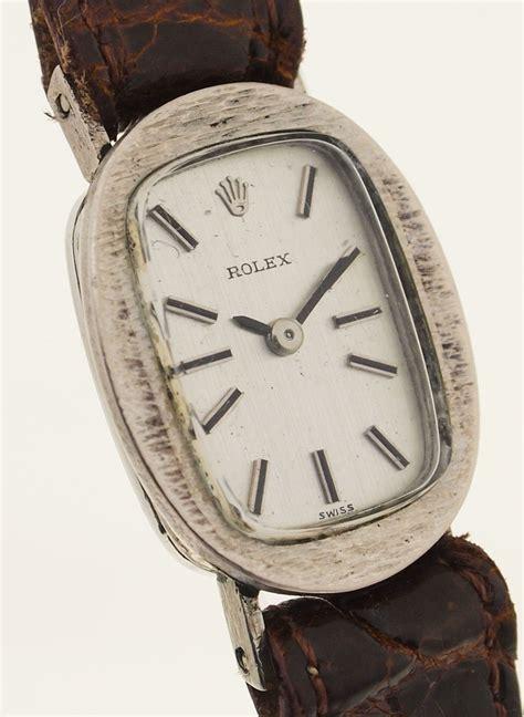 rolex für damen rolex damen armbanduhr in 18ct weissgold 1960er jahre kaliber 1400 ebay