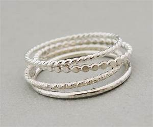 Ring Set Silber : sterling silver rings stacking rings set of 4 thin silver ~ Eleganceandgraceweddings.com Haus und Dekorationen