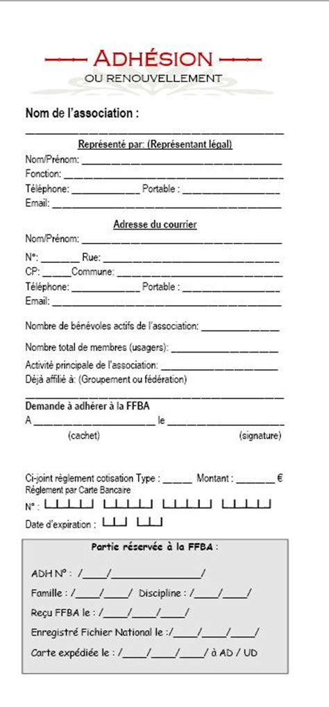 modele document association