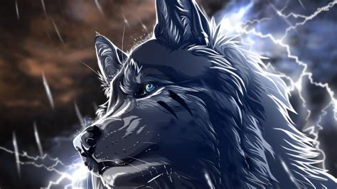 Wolf In The Storm Wallpaper