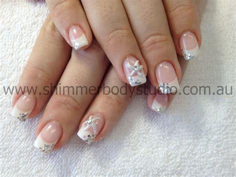Gel Nails. French Nails. Wedding Nails. Bridal Nails